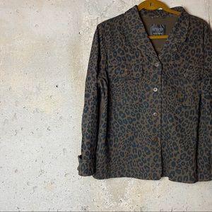Sanctuary brown leopard  button up jacket